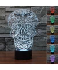Lunio Color Lampe LED illusion 3D forme tête de mort