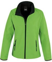 Dámská softshellová bunda - Zelená a černá XS