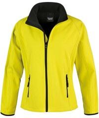 Dámská softshellová bunda - Žlutá s černou XS