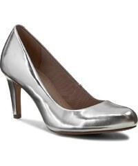 Halbschuhe CLARKS - Carlita Cove 261146824 Silver