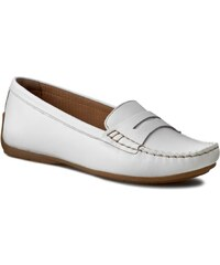 Mokasíny CLARKS - Doraville Nest 261172244 White Leather