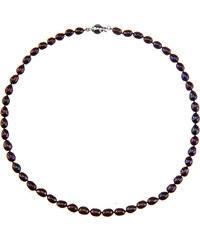 Buka Jewelry BUKA Perlový náhrdelník z oválných perel 6,5 černý 731