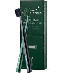 Swiss Smile Soft Toothbrush Kit dárková sada U - 1pc Sensitive-Soft Toothbrush Black + 1pc Sensitive-Soft Toothbrush Green Zubní kartáčky pro citlivé zuby