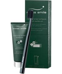 Swiss Smile Vitalizing Herbal Toothpaste Kit dárková sada U - 75ml Vitalizing Herbal Toothpaste + 1pc Sensitive-Soft Toothbrush Green Vyživující bylinná zubní pasta