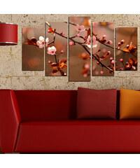 Lesara 5 Panneaux muraux motif bourgeons