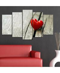 Lesara 5-teiliges Wandbild Herz