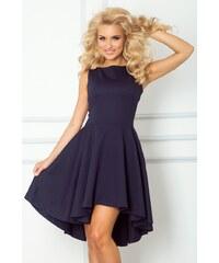 SaF Asymetrické dámské šaty tmavě modré velikost oblečení: S