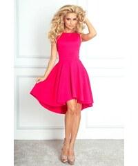 SaF Asymetrické dámské šaty výrazně růžové velikost oblečení: L