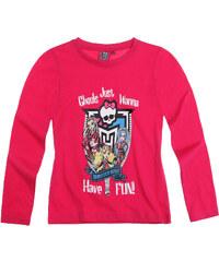 Monster High Langarmshirt himbeerrot in Größe 128 für Mädchen aus 100% Baumwolle