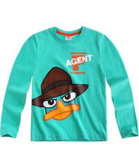 Disney Phineas und Ferb Langarmshirt mintgrün in Größe 98 für Jungen aus 100% Baumwolle