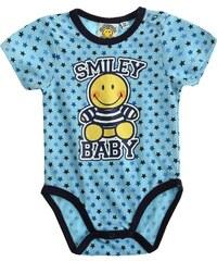 Smiley Body blau in Größe 3M für Jungen aus 100% Baumwolle