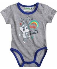 Looney Tunes Body grau in Größe 3M für Jungen aus 90 % Baumwolle 10 % Viskose