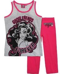 Monster High Shorty-Pyjama pink in Größe 128 für Mädchen aus Oberteil: 90% Baumwolle 10% Viskose Hose: 100% Baumwolle