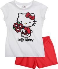 Hello Kitty Shorty-Pyjama rot in Größe 92 für Mädchen aus 100% Baumwolle