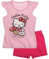 Hello Kitty Shorty-Pyjama pink in Größe 104 für Mädchen aus 100% Baumwolle