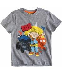 Bob der Baumeister T-Shirt grau in Größe 104 für Jungen aus 90 % Baumwolle 10 % Viskose