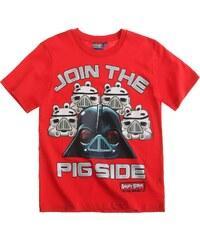 Angry Birds Star Wars T-Shirt rot in Größe 116 für Jungen aus 100% Baumwolle