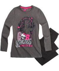 Monster High Pyjama schwarz in Größe 128 für Mädchen aus 100% Baumwolle