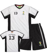 FIFA Fussball Weltmeisterschaft Brasilien 2014 (TM) T-Shirt und Bermuda, Deutschland 92-128 schwarz in Größe 98 für Jungen aus 100% Polyester