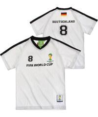 FIFA Fussball Weltmeisterschaft Brasilien 2014 (TM) T-Shirt, Deutschland 92-128 weiß in Größe 98 für Jungen aus 100% Polyester