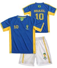 FIFA Fussball Weltmeisterschaft Brasilien 2014 (TM) T-Shirt und Bermuda, Brazil 92-128 weiß in Größe 98 für Jungen aus 100% Polyester