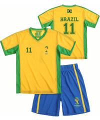 FIFA Fussball Weltmeisterschaft Brasilien 2014 (TM) T-Shirt und Bermuda, Brazil 92-128 blau in Größe 98 für Jungen aus 100% Polyester