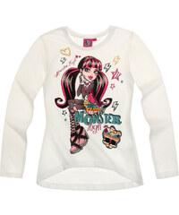 Monster High Langarmshirt weiß in Größe 128 für Mädchen aus 100% Baumwolle