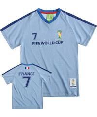 FIFA Fussball Weltmeisterschaft Brasilien 2014 (TM) T-Shirt, France 92-128 blau in Größe 98 für Jungen aus 100% Polyester