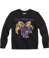 Skylanders Sweatshirt schwarz in Größe 116 für Jungen aus 80% Baumwolle 20% Polyester