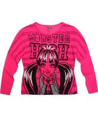 Monster High Langarmshirt pink in Größe 128 für Mädchen aus 100% Baumwolle