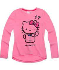 Hello Kitty Langarmshirt pink in Größe 128 für Mädchen aus 100% Baumwolle