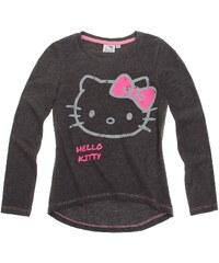 Hello Kitty Langarmshirt grau in Größe 128 für Mädchen aus 60 % Baumwolle 40 % Polyester