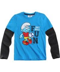 Die Schlümpfe Langarmshirt blau in Größe 104 für Mädchen aus Body: 100% Baumwolle Ärmel: 60% Baumwolle 40% Polyester