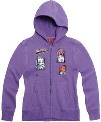 Monster High Sweatjacke mit Kapuze violett in Größe 128 für Mädchen aus Obermaterial: 60% Baumwolle 40% Polyester Kapuze: 100% Baumwolle