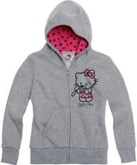 Hello Kitty Sweatjacke mit Kapuze grau in Größe 92 für Mädchen aus Obermaterial: 60% Baumwolle 40% Polyester Kapuze: 100% Baumwolle