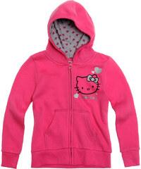 Hello Kitty Sweatjacke mit Kapuze pink in Größe 92 für Mädchen aus Obermaterial: 60% Baumwolle 40% Polyester Kapuze: 100% Baumwolle