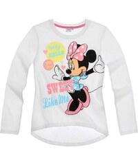 Disney Minnie Langarmshirt weiß in Größe 92 für Mädchen aus 100% Baumwolle