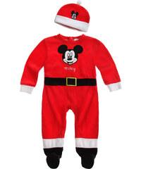 Disney Mickey Babyanzug und Mützchen rot in Größe 3M für Jungen aus 80% Baumwolle 20% Polyester
