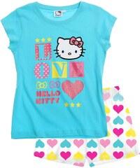 Hello Kitty Shorty-Pyjama blau in Größe 104 für Mädchen aus 100% Baumwolle