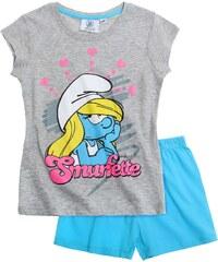 Die Schlümpfe Shorty-Pyjama blau in Größe 104 für Mädchen aus Oberteil: 95% Baumwolle 5% Viskose Hose: 100% Baumwolle