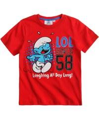 Die Schlümpfe T-Shirt rot in Größe 104 für Jungen aus 100% Baumwolle