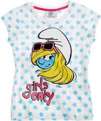 Die Schlümpfe T-Shirt weiß in Größe 104 für Mädchen aus 100% Baumwolle