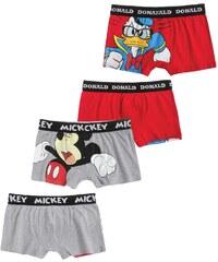 Disney Mickey 2 er Pack Boxer rot in Größe S für Herren aus 95% Baumwolle 5% Elastan