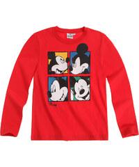 Disney Mickey Langarmshirt rot in Größe 98 für Jungen aus 100% Baumwolle