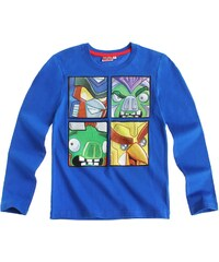 Angry birds Transformers Langarmshirt blau in Größe 116 für Jungen aus 100% Baumwolle