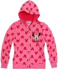 Disney Minnie Sweatjacke mit Kapuze pink in Größe 104 für Mädchen aus Obermaterial: 60% Baumwolle 40% Polyester Kapuze: 100% Baumwolle