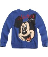 Disney Mickey Sweatshirt blau in Größe 98 für Jungen aus 60 % Baumwolle 40 % Polyester