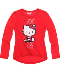 Hello Kitty Langarmshirt rot in Größe 98 für Mädchen aus 100% Baumwolle