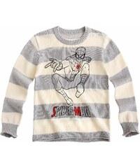 Spiderman Pullover grau in Größe 104 für Jungen aus 100% Baumwolle