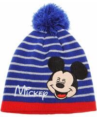 Disney Mickey Mütze blau in Größe 52 für Jungen aus 100% Polyacryl